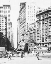 LOWER BROADWAY IN NEW YORK CITY, 1915 8x10 SILVER HALIDE PHOTO PRINT