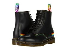 Unisex Shoes Dr. Martens 1460 PRIDE Leather Lace Up Boots 25701001 BLACK