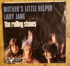ROLLING STONES - MOTHERS LITTLE HELPER / LADY JANE 45 902 LONDON VG+ PIC SLEEVE