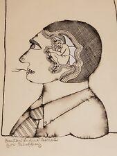 Barton Lidice Benes Original Pen & Ink Drawing Personal Devil Inside