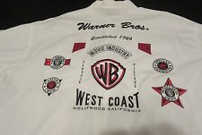 "WARNER BROTHERS XL MEN'S SHIRT. ""CAMERA CREW LOGOS"". EMBROIDERERY & PATCHES."