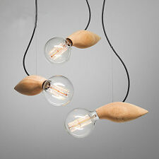 Modern Pendant Light Bar Kitchen Ceiling Lights Bedroom Wood Chandelier Lighting