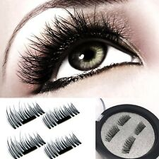 3D Magnetic False Eyelashes Natural Eye Lashes Extension 4Pcs Handmade Soft BOX