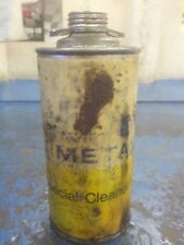 vintage tin liquid cleaner can