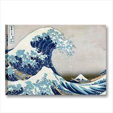 Hokusai, la grande onda QUADRO INTELAIATO 70x50 TELA ARTE STAMPA WAVE GREAT MARE