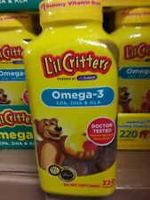 Lil Critters 220 Omega-3 Kids Gummy Vitamins Children's Dietary Supplement 4-21