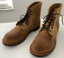 Red Wing Iron Ranger Boots 8 Wide EE 8.5 41 Hawthorne Muleskinner Leather Vibram