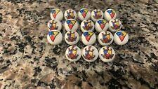 "Knights of Pythias Mason,Masonic, Freemason 5/8"" glass marbles with stands"
