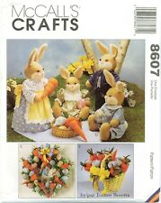 McCalls 8607 BUNNY PICNIC Family Doll Wreath 11.5 - 20 inch Pattern UNCUT NEW