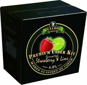Bulldog Cider Lager Making Kits Make Home Brew Refill - Strawberry & Lime