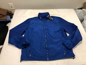 NWT $149.99 Polo Ralph Lauren Mens Retford Windbreaker Jacket Blue Sz MEDIUM