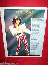 LOREDANA BERTE Sei bellissima 1984 G. P. FELISATTI Spartito Pop Art Cover