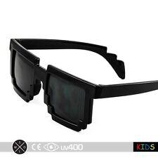 Black Boys Girls 8-Bit Glasses Trendy Child Children Kid Clear Lens 8 Bit K007