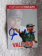San Diego Padres Jose Valentin Signed 2013 Fort Wayne TinCaps Card Auto