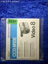 Sony Bedienungsanleitung CCD M10E Video 8 Camera Recorder (#3231)