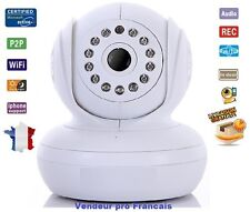 Camera Wanscam Sans Fil Wireless WiFi IP IR Nightvision Dual Audio Webcam Blanc