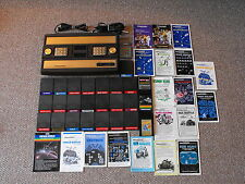 Broken Intellivision Console System with 25 Games & Some Manuals & Overlays Lot