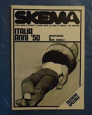 RIVISTA SKEMA N.6 1972 ATTUALITA' FOTOGRAFIA ITALIA ANNI 50 JADER JACOBELLI