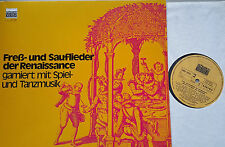 Freß-e sauflieder Rinascimento musica canterey Bamberg LP Schwann VMS 2032 NM
