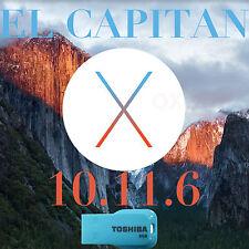 Mac OSX El Capitan 10.11. 6 install USB bootable iMac MacBook Pro air Mini OS X