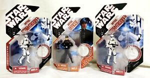 Star Wars 30th Anniversary Stormtrooper and Saga Imperial Officer 3 Figure Lot