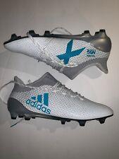 Sz 11.5 Men's adidas X 17.1 FG Soccer Cleats White Energy Blue S82285