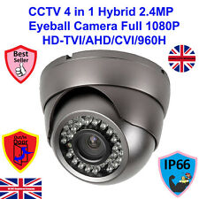 HD TVI 1080P 2.4MP SONY SENSOR CCTV GREY 4 IN 1  DOME CAMERA 3.6mm LENS 25m IR