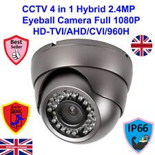 HD TVI 1080P 2.4MP SONY SENSOR CCTV GREY 4 IN 1  DOME CAMERA 3.6mm LENS 25m IR