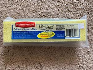 Rubbermaid Ultra-Fresh Cellulose Squeeze Mop Refill Scrubber G003 NEW NIP 2002