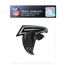 Promark New NFL Atlanta Falcons Plastic Chrome 3-D Auto Emblem Sticker Decal