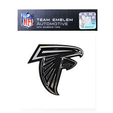 Promark New NFL Atlanta Falcons Plastic Chrome 3-D Auto Emblem Sticker Decal