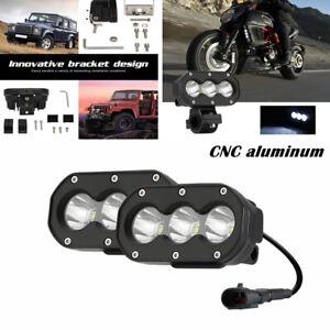 2X Motorcycle Car LED Driving Fog Light Spotlight Reversing Lamp Front Bumper