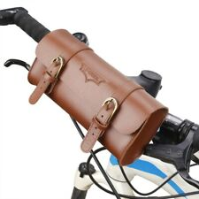 Leather Retro Bicycle Bags Handlebar Bike Front Tube Frame Saddle Cycling Pouch
