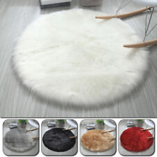 Soft Sheepskin Plain Fluffy Skin Fake Faux Fur Rug Washable Sofa Mat Small Rugs
