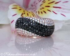 Brillanten Ring mit schwarzen Diamanten im Wellen Design, 1.43 ct. RG-750 4.800€