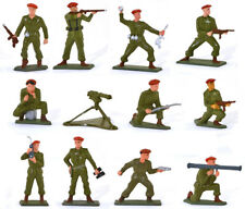 Starlux Paratroops - Set of 11 with Machine Gun - 60mm Painted Toy Soldiers