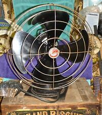 "Antique 16"" GE General Electric Oscillating Table Fan 21"" Tall X 16"" Dia."