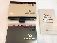 LEXUS 2004 GS300 GS430 OWNERS MANUAL NAVIGATION BOOKS GUIDE OEM W/ LEATHER POUCH
