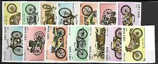 North Viet Nam Sc 1515-21 NH PERF & IMPERF SETS of 1985 - MOTORCYCLES