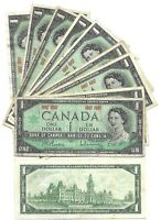 Canada One 1 Dollar $1 (1967) without Serials- Circulated Banknote