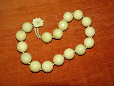 Antique vintage  Chinese green Jade / soapstone ?  bead necklace