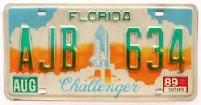 Florida 1989 NASA CHALLENGER SPACE SHUTTLE Specialty Graphic License Plate