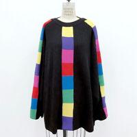 ⭕ 80s Vintage PATRICK KELLY RAINBOW RIB SWEATER : kint avant garde dress jacket