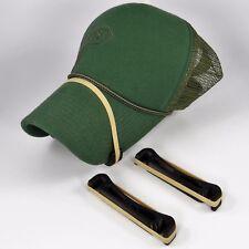 3 Visor Bender Set -BLACK- Bender Bill Baseball Golf Trucker Hats Perfect Curve
