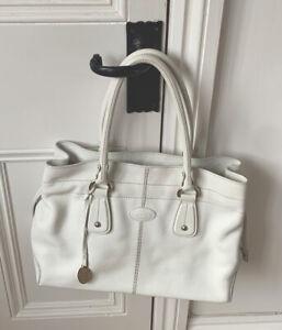 Tod's D Bag White Calfskin