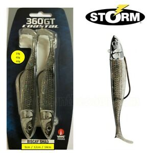 2 Storm 360GT Coastal Biscay Shad Weedless Lure 19g 40g or 60g - Mullet