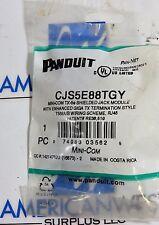 Panduit CJS5E88TGY Cat5e RJ45 Shielded Mini Com Pan-Net Jack (1) NEW IN BAG