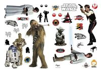 Star Wars Rebel Alliance Characters giant vinyl stickers 1000mm x 700mm (aby)