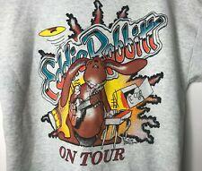"Vintage Eddie Rabbitt Mens Sz L Sweatshirt ""Get The Rabbitt Habit"" Made in USA"