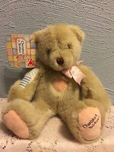 """Dakin Cherished Teddies Plush Betty 1994  Patchwork Pink 12"""" Hillman"""